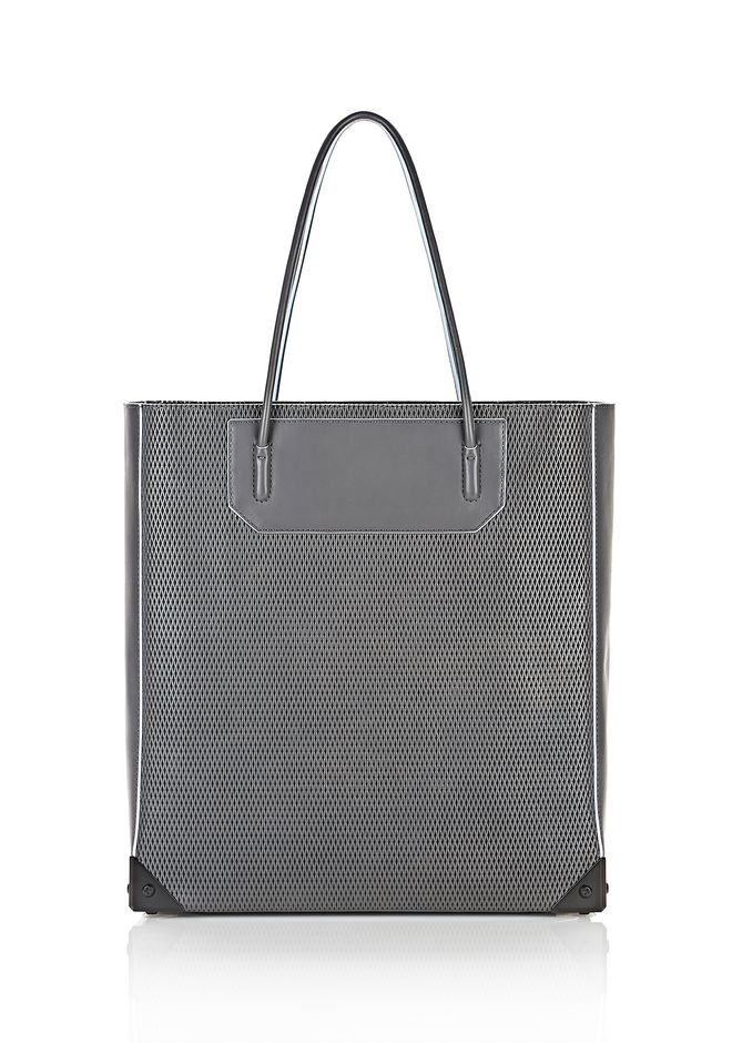 ALEXANDER WANG PRISMA TOTE IN EXHAUST WITH MATTE BLACK  TOTE/DEL Adult 12_n_f