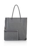 ALEXANDER WANG PRISMA TOTE IN EXHAUST WITH MATTE BLACK  TOTE/DEL Adult 8_n_a