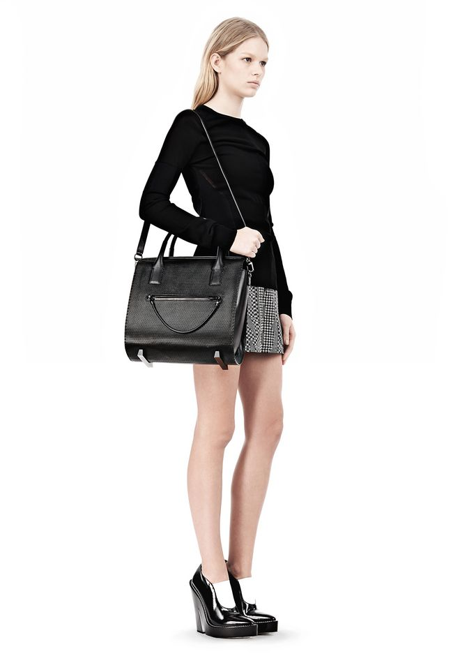 ALEXANDER WANG LARGE CHASTITY IN BLACK WITH MATTE BLACK TOTE Adult 12_n_r