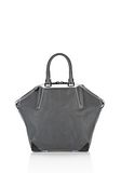 ALEXANDER WANG EMILE TOTE IN  EXHAUST WITH MATTE BLACK TOTE Adult 8_n_a