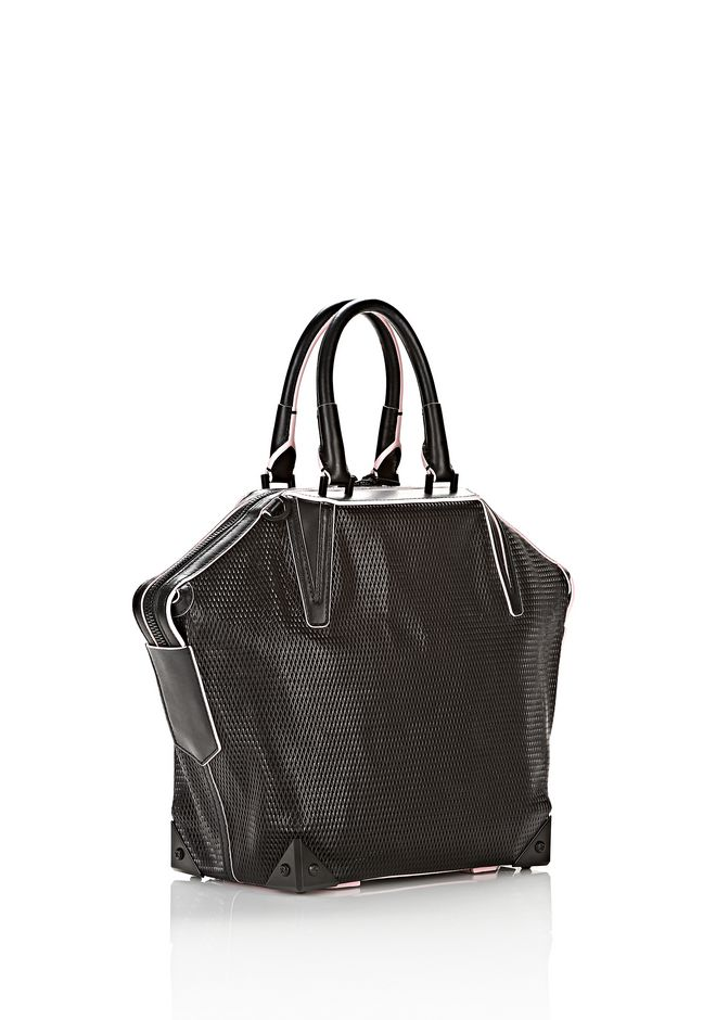 ALEXANDER WANG EMILE TOTE IN BLACK WITH MATTE BLACK TOTE/DEL Adult 12_n_e
