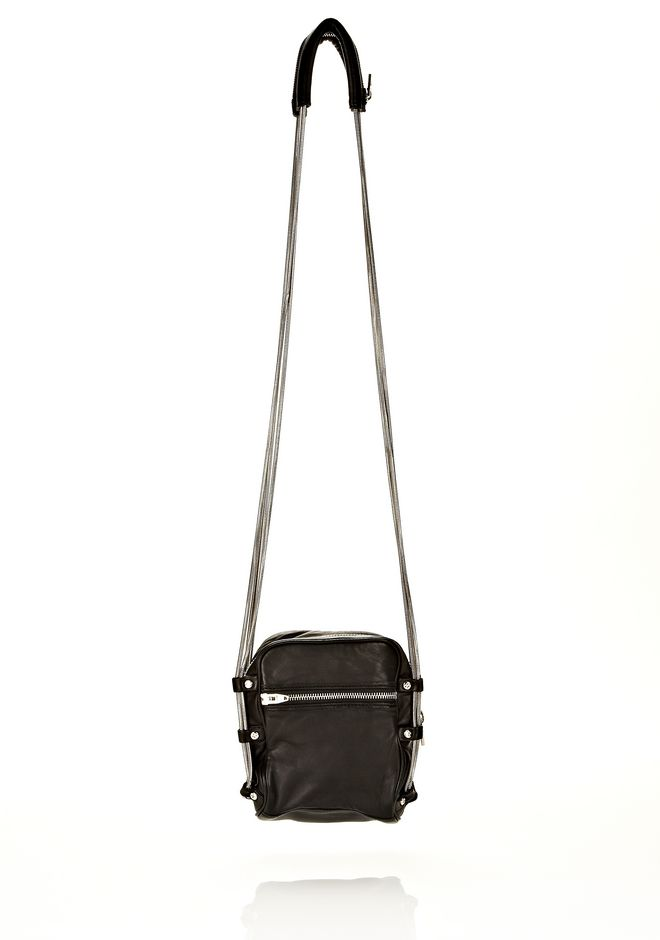 ALEXANDER WANG BRENDA CAMERA IN WASHED BLACK WITH RHODIUM  Shoulder bag Adult 12_n_d