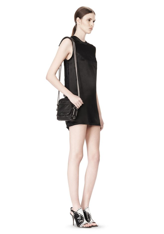 ALEXANDER WANG BRENDA CAMERA IN WASHED BLACK WITH RHODIUM  Shoulder bag Adult 12_n_r