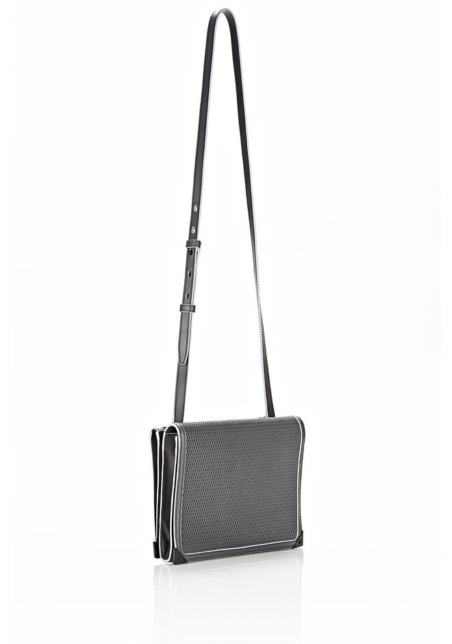 ALEXANDER WANG PRISMA DOUBLE ENVELOPE IN EXHAUST  WITH MATTE BLACK Shoulder bag Adult 12_n_r