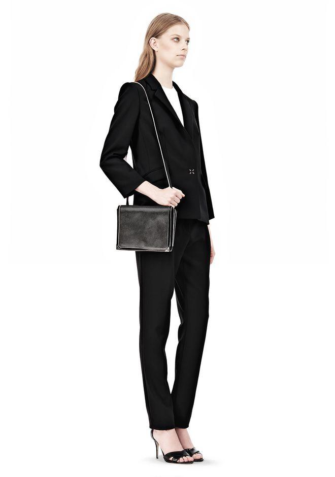 ALEXANDER WANG PRISMA DOUBLE ENVELOPE IN BLACK WITH MATTE BLACK  Shoulder bag Adult 12_n_r