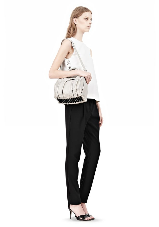 ALEXANDER WANG INSIDE-OUT ROCKIE IN CHALK WITH MATTE BLACK Shoulder bag Adult 12_n_r