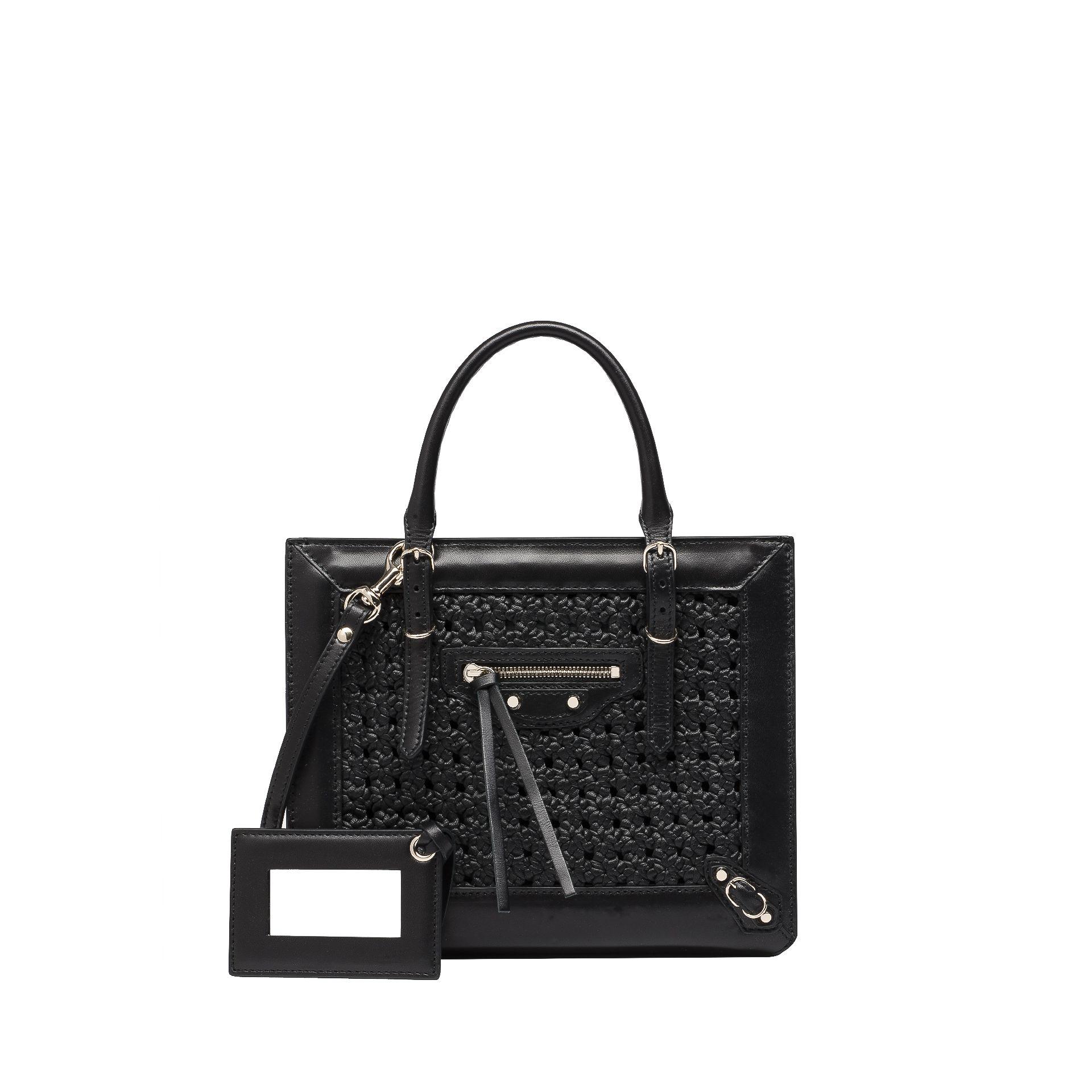 BALENCIAGA Balenciaga Weaving Mini Papier A4 Messenger Bag D f