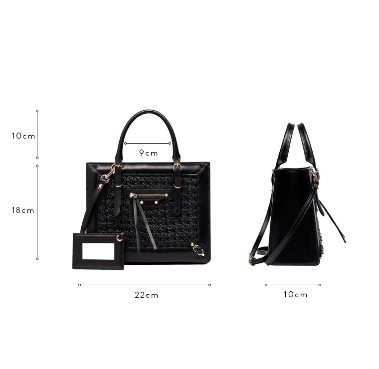 BALENCIAGA Messenger Bag D Balenciaga Weaving Mini Papier A4 c
