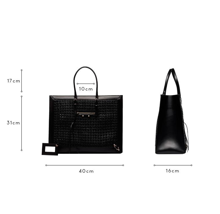 BALENCIAGA Shopper D Balenciaga Weaving Papier A4 c