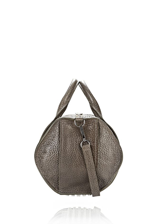 ALEXANDER WANG INSIDE-OUT ROCCO IN GUNPOWDER WITH RHODIUM Shoulder bag Adult 12_n_e