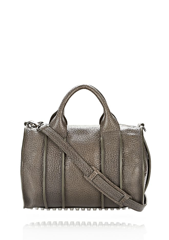 ALEXANDER WANG INSIDE-OUT ROCCO IN GUNPOWDER WITH RHODIUM Shoulder bag Adult 12_n_f
