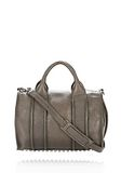 ALEXANDER WANG INSIDE-OUT ROCCO IN GUNPOWDER WITH RHODIUM Shoulder bag Adult 8_n_f