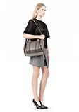 ALEXANDER WANG INSIDE-OUT ROCCO IN GUNPOWDER WITH RHODIUM Shoulder bag Adult 8_n_r