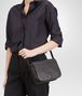 BOTTEGA VENETA NERO INTRECCIATO NAPPA MESSENGER BAG Crossbody bag D ap