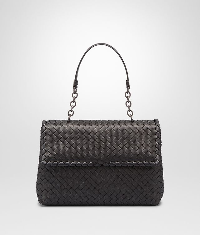 6218f00afb42 BOTTEGA VENETA Nero Intrecciato Nappa Olimpia Bag Shoulder Bag       pickupInStoreShipping info