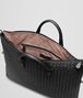 BOTTEGA VENETA MEDIUM CONVERTIBLE BAG IN NERO INTRECCIATO NAPPA Top Handle Bag D dp