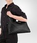 BOTTEGA VENETA NERO INTRECCIATO NAPPA MEDIUM CONVERTIBLE BAG Top Handle Bag Woman lp