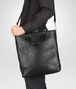 BOTTEGA VENETA SHOPPER NERA IN LIGHT CALF INTRECCIATO Borsa Shopping U lp