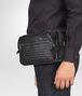 BOTTEGA VENETA BELT BAG IN NERO INTRECCIATO CALF Small bag U ap