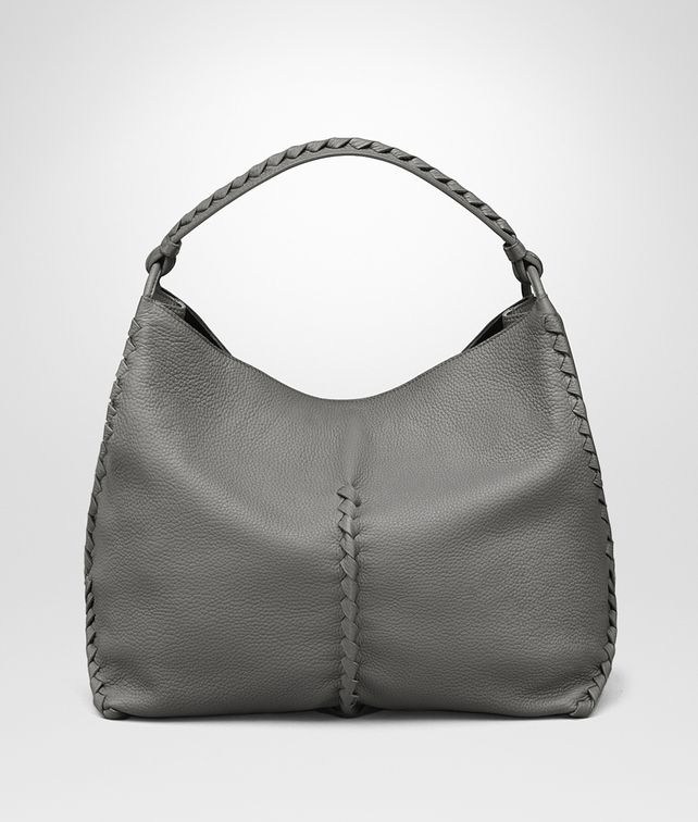 BOTTEGA VENETA SHOULDER BAG IN NEW LIGHT GREY CERVO Shoulder or hobo bag D fp
