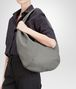 BOTTEGA VENETA NEW LIGHT GREY WASHED CERVO BAG Shoulder or hobo bag D ap