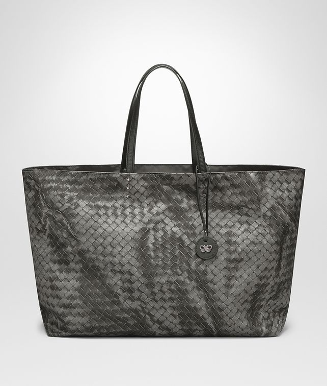 BOTTEGA VENETA LARGE TOTE BAG IN NEW LIGHT GREY INTRECCIOLUSION Tote Bag D fp