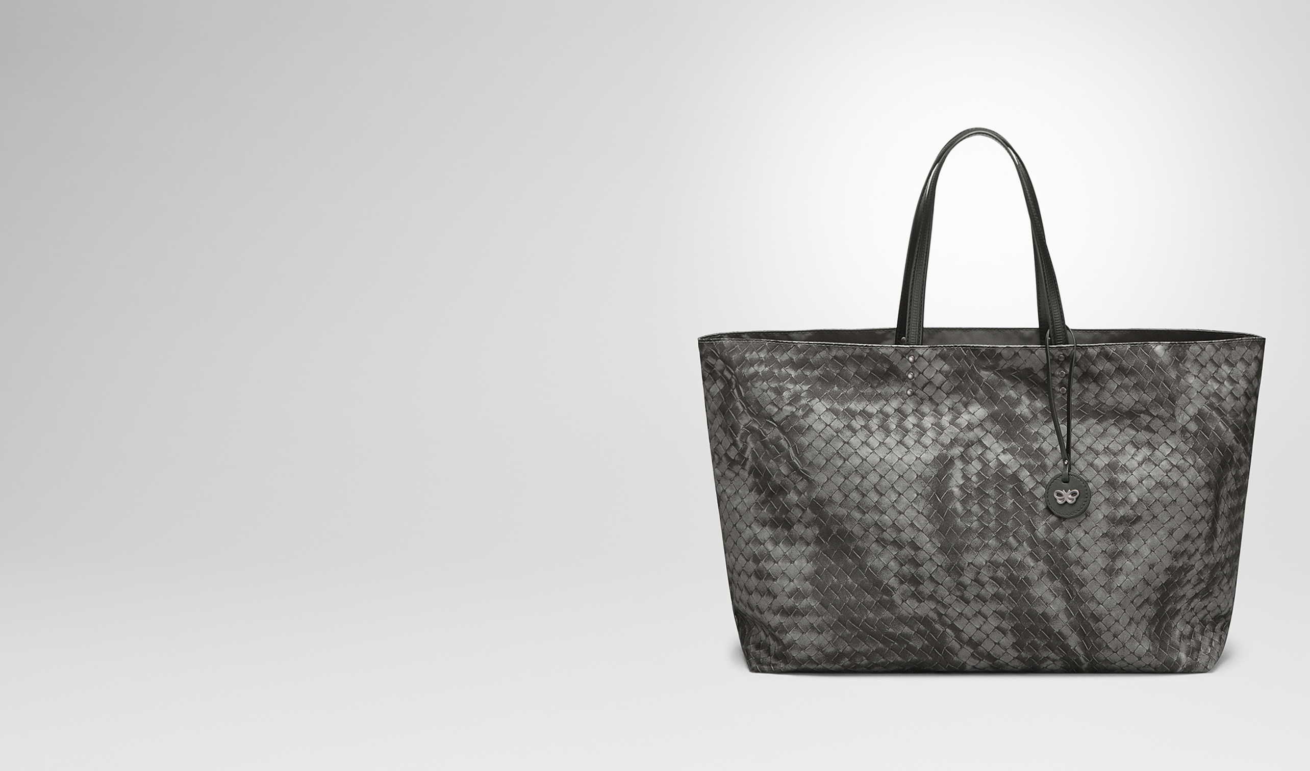BOTTEGA VENETA Borsa Shopping D BORSA SHOPPING GRANDE IN INTRECCIOLUSION NEW LIGHT GREY pl