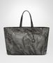 BOTTEGA VENETA LARGE TOTE BAG IN NEW LIGHT GREY INTRECCIOLUSION Tote Bag Woman fp