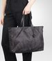 BOTTEGA VENETA LARGE SHOPPER NEW DARK GREY IN INTRECCIOLUSION Borsa Shopping D ap