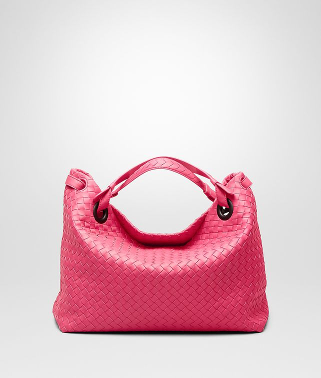 BOTTEGA VENETA Rosa Shock Intrecciato Nappa Bag Shoulder or hobo bag D fp