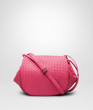 Rosa Shock Intrecciato Nappa Messenger Bag