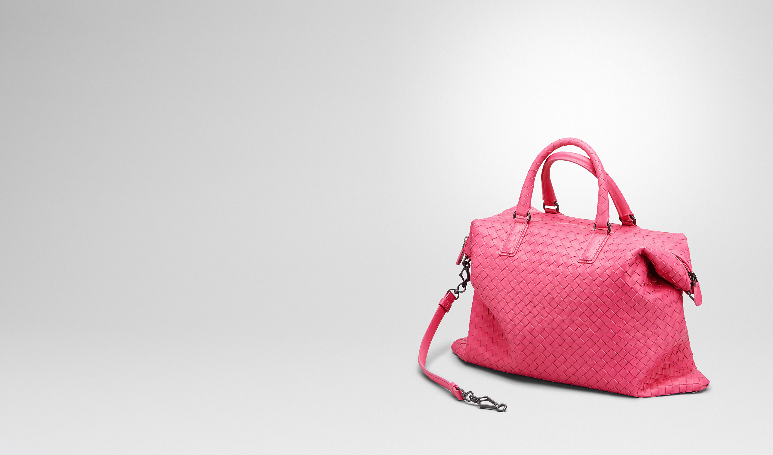 BOTTEGA VENETA Top Handle Bag D Rosa Shock Intrecciato Nappa Convertible Bag pl