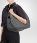 BOTTEGA VENETA BORSA CAMPANA NEW LIGHT GREY IN NAPPA INTRECCIATA Borsa a spalla D ap