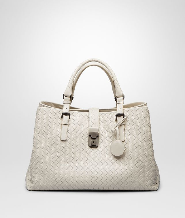 BOTTEGA VENETA BORSA ROMA MIST IN LIGHT CALF INTRECCIATO Borsa a Mano D fp