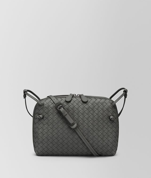 BOTTEGA VENETA BORSA NODINI IN INTRECCIATO NAPPA LIGHT GREY Borsa a Tracolla [*** pickupInStoreShipping_info ***] fp