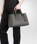 BOTTEGA VENETA LIGHT GRAY INTRECCIATO CALF SMALL ROMA BAG Top Handle Bag D ap