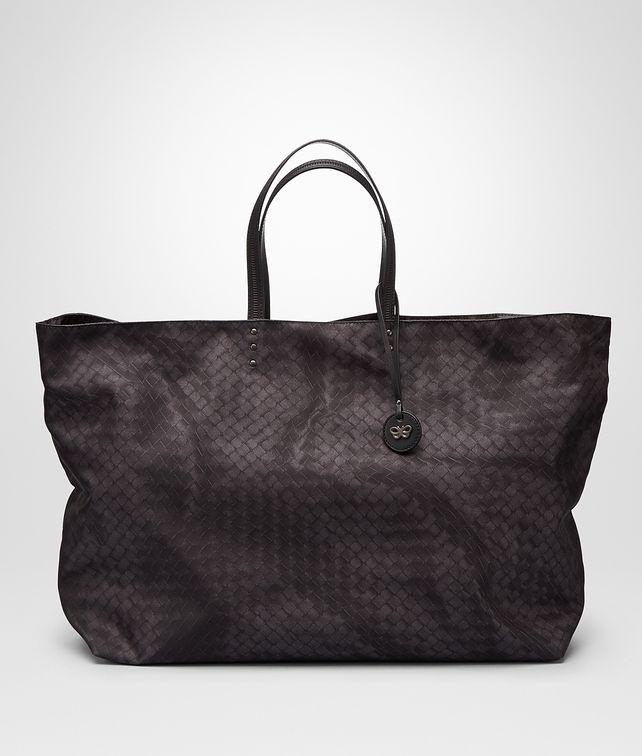 BOTTEGA VENETA NEW DARK GREY INTRECCIOLUSION  MAXI TOTE Tote Bag D fp