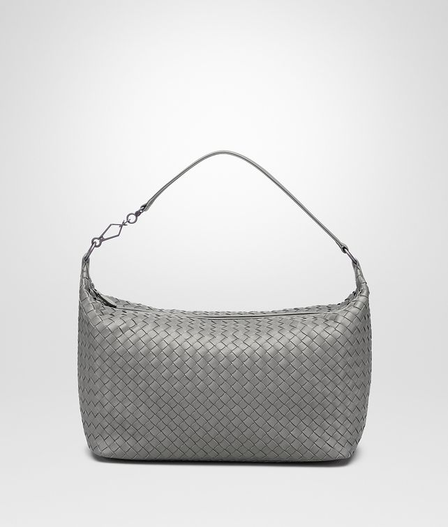 BOTTEGA VENETA NEW LIGHT GREY INTRECCIATO NAPPA BAG Shoulder or hobo bag D fp