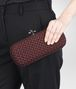 BOTTEGA VENETA STRETCH KNOT CLUTCH IN AUBERGINE INTRECCIO FAILLE MOIRE Clutch D ap
