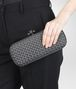 BOTTEGA VENETA STRETCH KNOT IN MEDIUM GREY INTRECCIO FAILLE MOIRE Clutch Woman ap