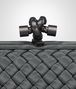 BOTTEGA VENETA STRETCH KNOT IN MEDIUM GREY INTRECCIO FAILLE MOIRE Clutch Woman ep