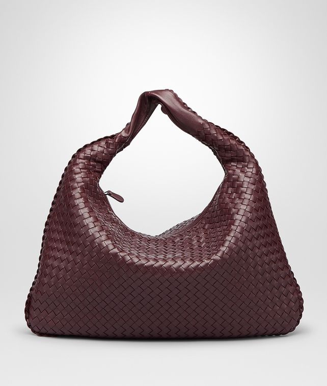 BOTTEGA VENETA Aubergine Intrecciato Nappa Large Veneta Shoulder or hobo bag D fp
