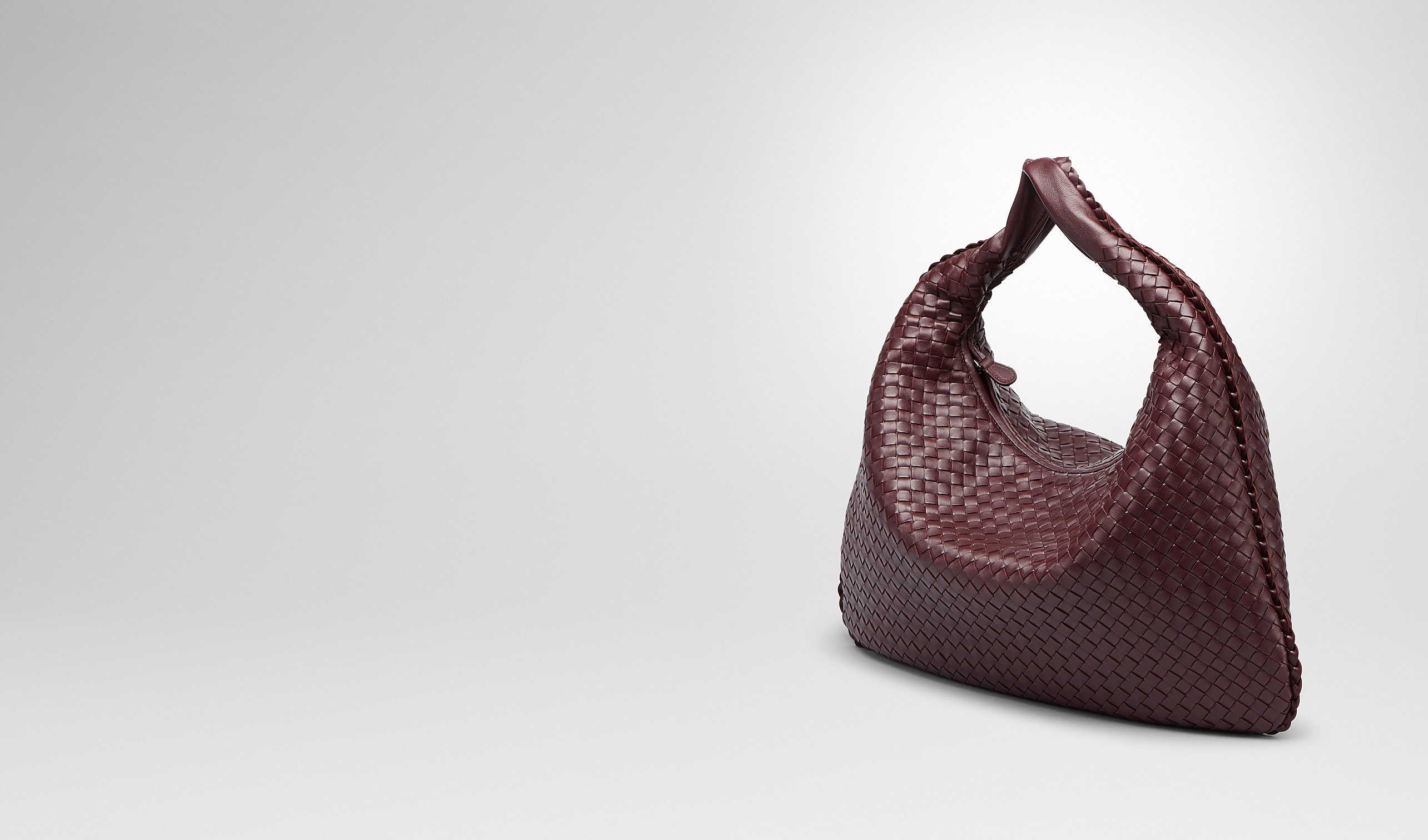 BOTTEGA VENETA Shoulder or hobo bag D AUBERGINE INTRECCIATO NAPPA Large Veneta pl