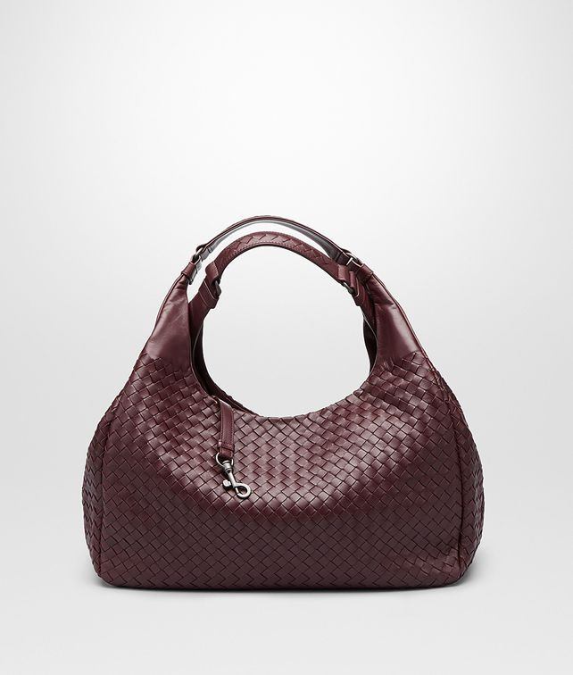 BOTTEGA VENETA AUBERGINE INTRECCIATO NAPPA CAMPANA BAG Shoulder or hobo bag D fp