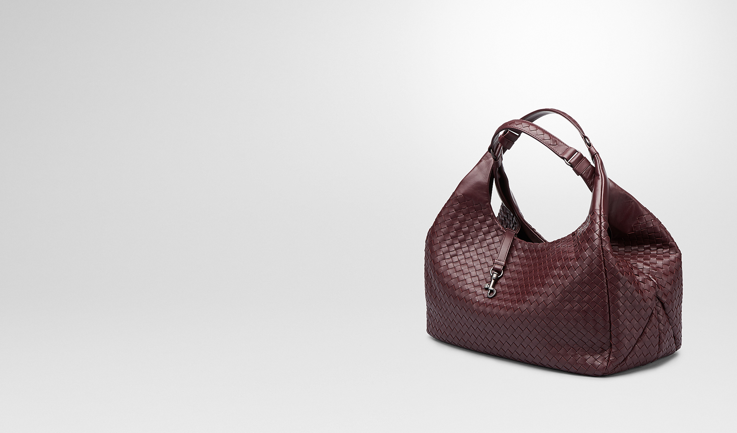 BOTTEGA VENETA Shoulder or hobo bag D Aubergine Intrecciato Nappa Campana Bag pl