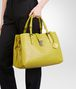 BOTTEGA VENETA New Chartreuse Intrecciato Light Calf Roma Bag Top Handle Bag D ap