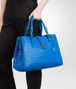 BOTTEGA VENETA SIGNAL BLUE Intrecciato Light Calf ROMA BAG Top Handle Bag D ap