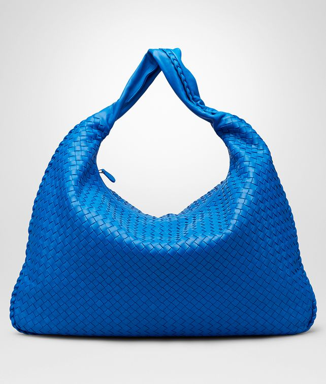 BOTTEGA VENETA Signal Blue Intrecciato Nappa Maxi Veneta Shoulder or hobo bag D fp
