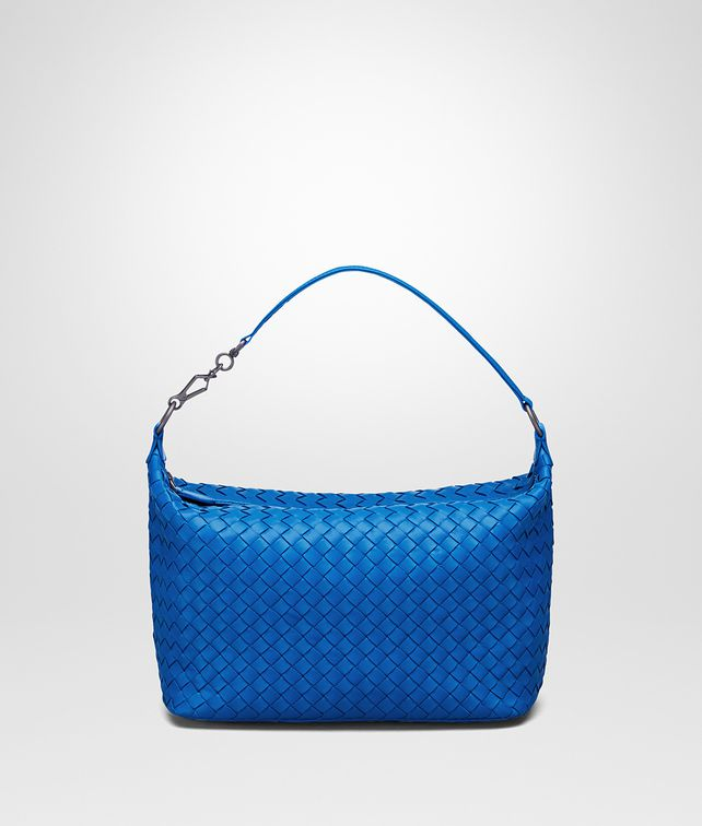 BOTTEGA VENETA SIGNAL BLUE INTRECCIATO NAPPA BAG Shoulder or hobo bag D fp