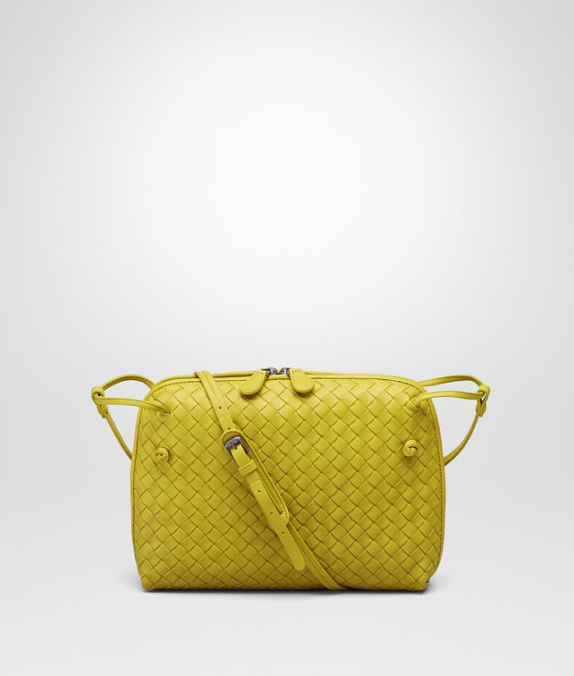 BOTTEGA VENETA New Chartreuse Intrecciato Nappa Messenger Bag Crossbody bag D fp